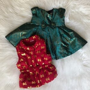 0-3 month baby girl bundle dress and vest Holiday